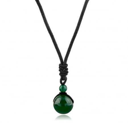 Set Bratara All Green+Colier Green Agate cu pietre semipretioase  DRGSB031 - DarGEN2