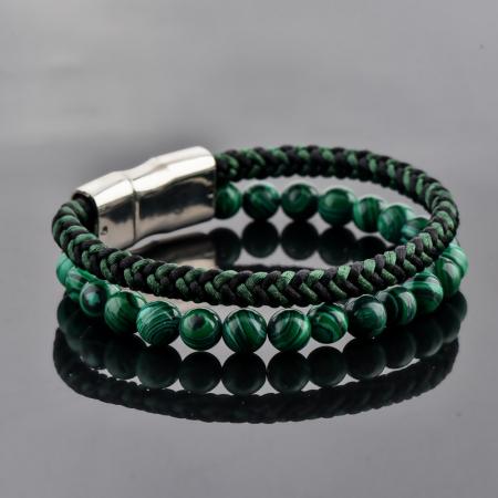Set Bratara All Green+Colier Green Agate cu pietre semipretioase  DRGSB031 - DarGEN3
