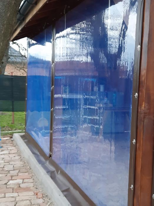 Inchideri terase sau foisoare cu folie pvc Cristal transparenta [7]