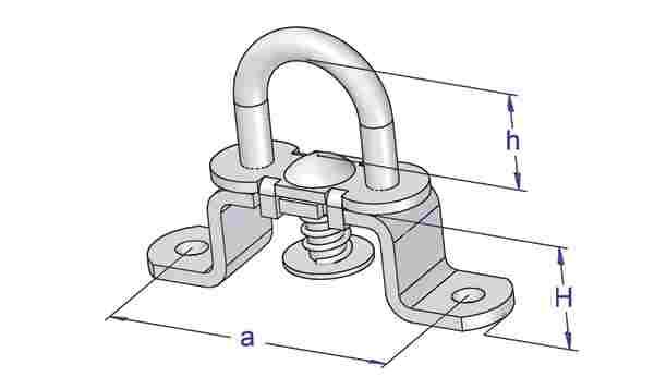 Brida rotativa cu ureche fixa cu arc 2