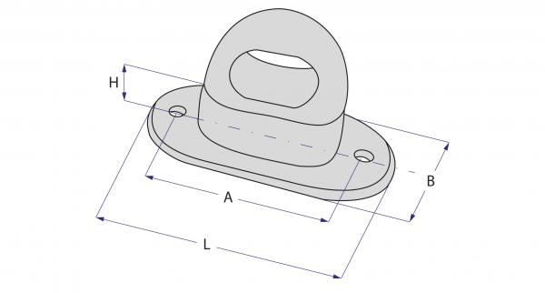 Brida rotativa plastic cu ureche rotunda 4