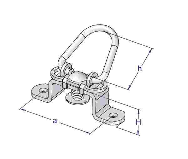 Brida rotativa cu ureche mobila cu arc [2]