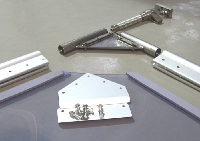 Usa batanta DARFLEX cu folie pvc transparenta cu rama  din aluminiu [5]