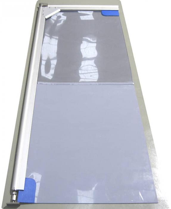 Usa batanta DARFLEX cu folie pvc transparenta cu rama  din aluminiu [7]