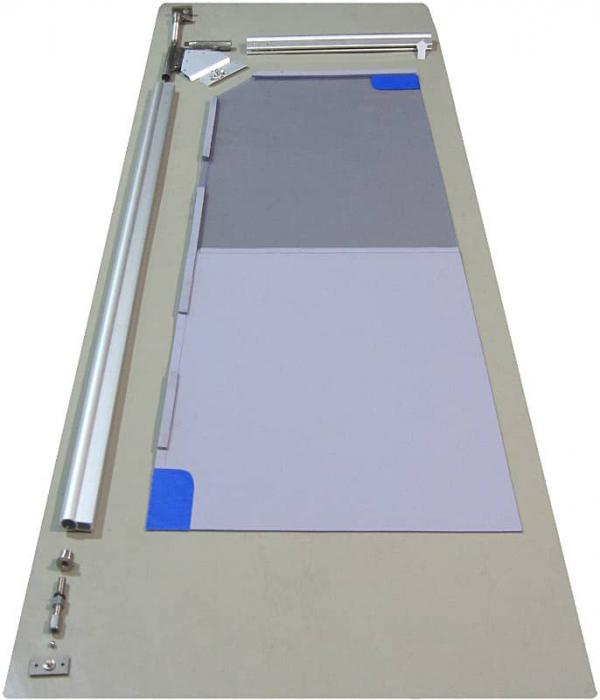 Usa batanta DARFLEX cu folie pvc transparenta cu rama  din aluminiu [6]