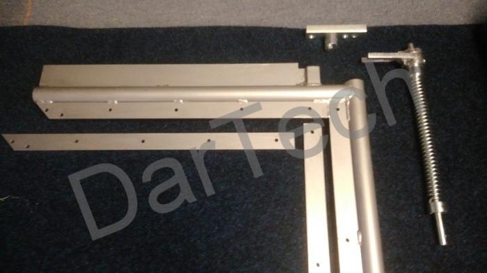 Usa batanta DARFLEX cu folie pvc transparenta cu rama din otel zincat sau vopsite [4]