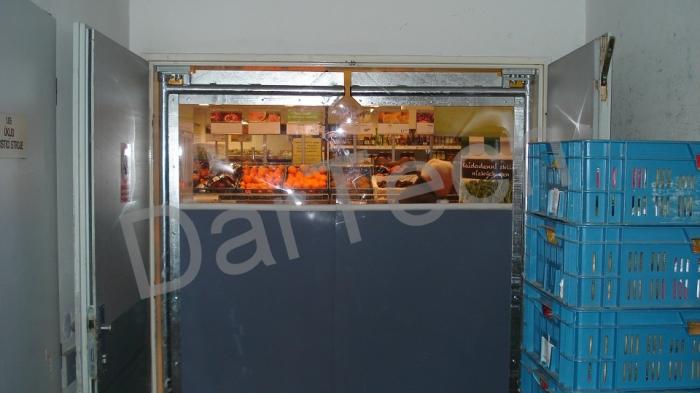 Usa batanta DARFLEX cu folie pvc transparenta cu rama din otel zincat sau vopsite [0]