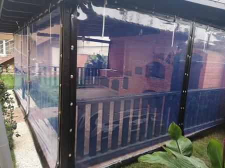 Inchideri terase sau foisoare cu folie pvc Cristal transparenta [2]