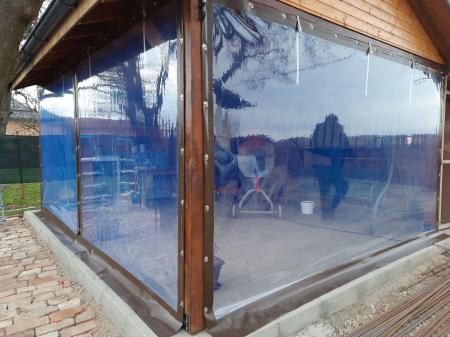 Inchideri terase sau foisoare cu folie pvc Cristal transparenta [6]