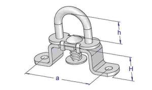 Brida rotativa cu ureche fixa cu arc 17x51x19mm2