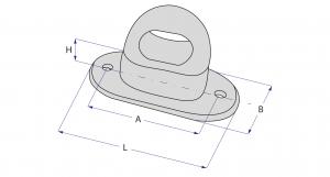 Brida rotativa plastic cu ureche rotunda [4]