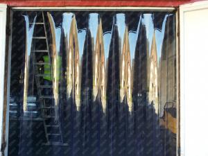 Perdea din fasii PVC moale transparenta Dimesiuni Personalizate tip fasie 300x2.0 mm temepratura normala.0