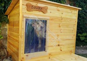 Perdea / Usa PVC Flexibil pentru cusca caini cu sipca de lemn cu suprapunere8