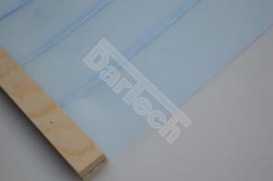 Perdea / Usa PVC Flexibil pentru cusca caini cu sipca de lemn cu suprapunere5
