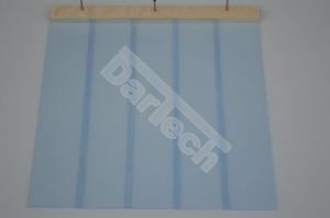 Perdea / Usa PVC Flexibil pentru cusca caini cu sipca de lemn cu suprapunere7