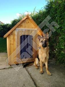 Perdea / Usa PVC Flexibil pentru cusca caini cu sipca de lemn cu suprapunere6
