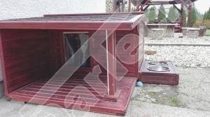 Perdea / Usa PVC Flexibil pentru cusca caini cu sipca de lemn cu suprapunere3