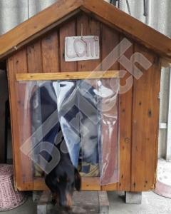 Perdea / Usa PVC Flexibil pentru cusca caini cu sipca de lemn (fara suprapunere)3