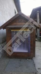 Perdea / Usa PVC Flexibil pentru cusca caini cu sipca de lemn (fara suprapunere)1