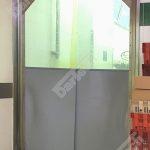 Usa batanta DARFLEX cu folie pvc transparenta cu rama din otel zincat sau vopsite [8]