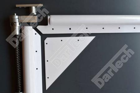 Usa batanta DARFLEX cu folie pvc transparenta cu rama din otel zincat sau vopsite [6]