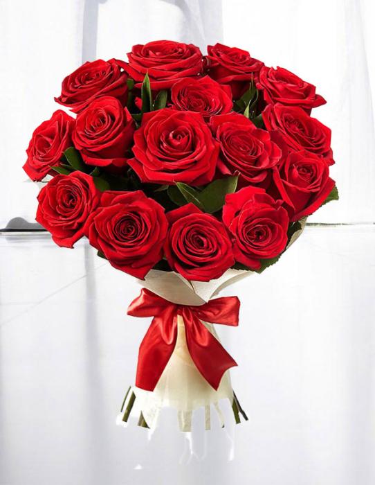 Buchet 15 trandafiri rosii [0]