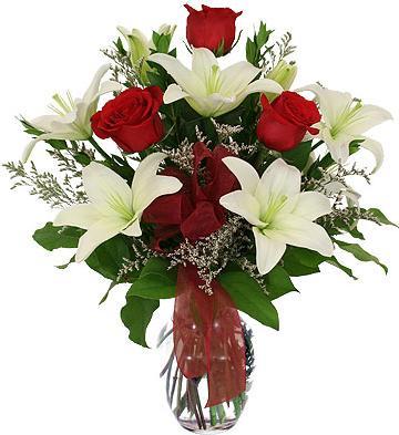 Buchet crini cu trandafiri [0]