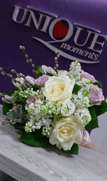Buchet liliac, lalele si trandafiri [0]