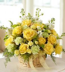 Cos cu trandafiri galbeni [0]