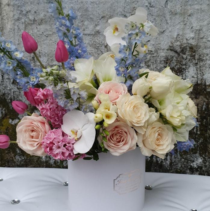 Cutie flori pastel 1 8 Martie 6