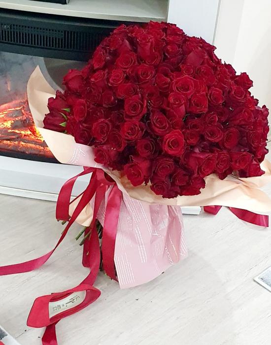 Buchet 201 trandafiri - Florarie Iasi 2