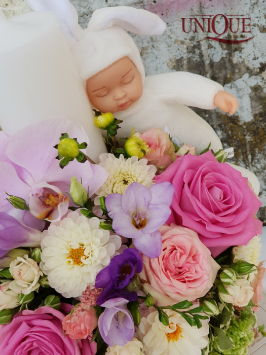 Lumanare botez fetita 2