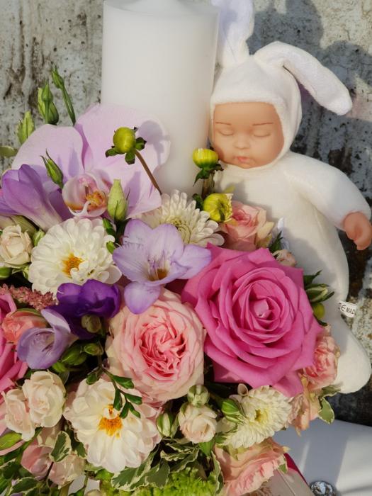 Lumanare botez fetita 3