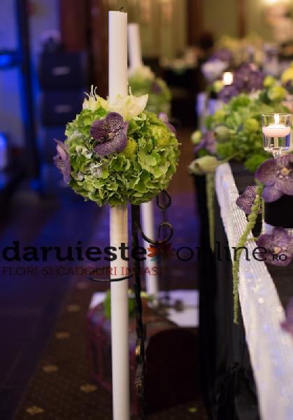 Lumanari nunta hortensie si orhidee vanda [0]