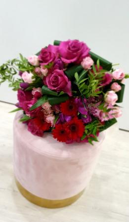 Buchet trandafiri roz magenta1