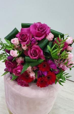 Buchet trandafiri roz magenta0