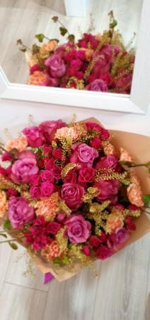 Buchet trandafiri roz2