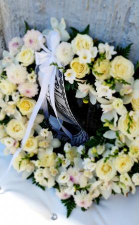 Coroana rotunda trandafiri si orhidee [1]