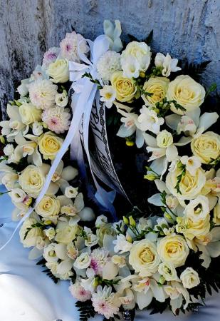 Coroana rotunda trandafiri si orhidee [2]