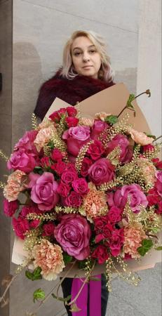 Buchet trandafiri roz3