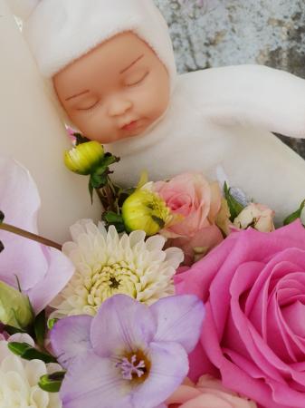Lumanare botez bebelus alb5