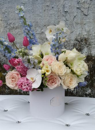 Cutie flori pastel 1 8 Martie0