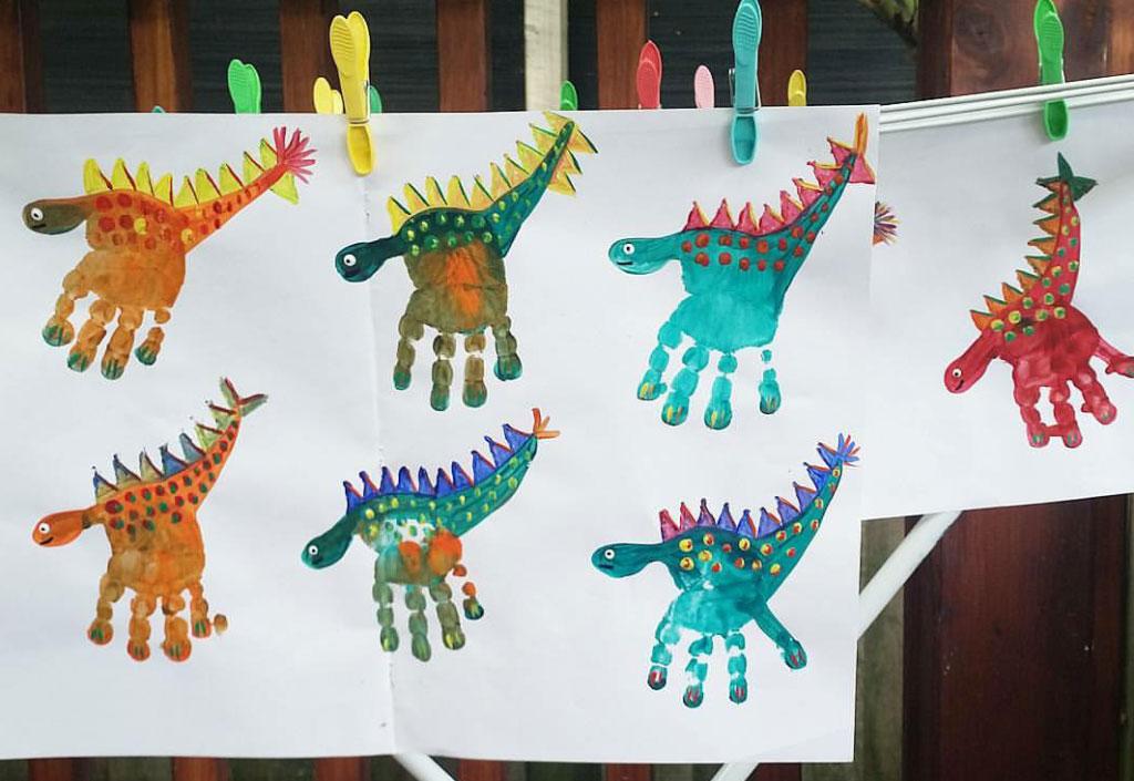 Dactilo-pictua dinozaur