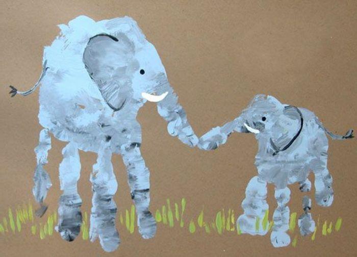 Dactilo-pictura elefant