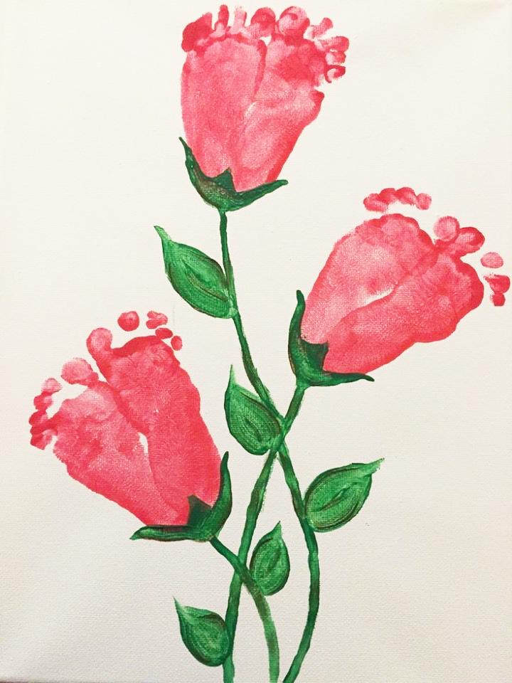 Dactilo-pictura flori