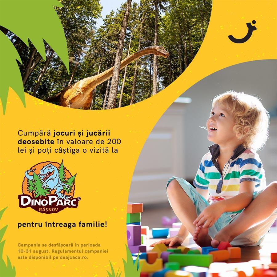 De-a Joaca la Dino Parc împreună cu dinozaurii prietenoși