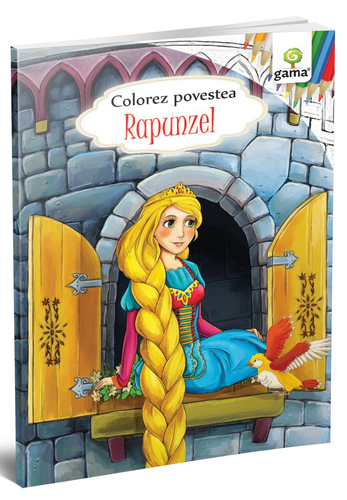 Colorez povestea Rapunzel
