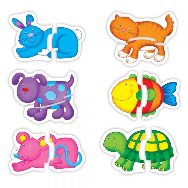 Baby Puzzle: Animale de companie (2 piese) 0