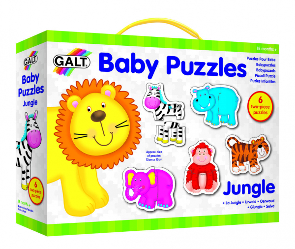 Baby Puzzle: Animale din jungla (2 piese) 0