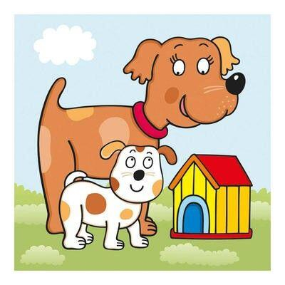 Baby puzzle - Animalute jucause (3-5 piese) [1]